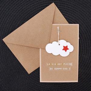 Carte nuage et étoile rouge