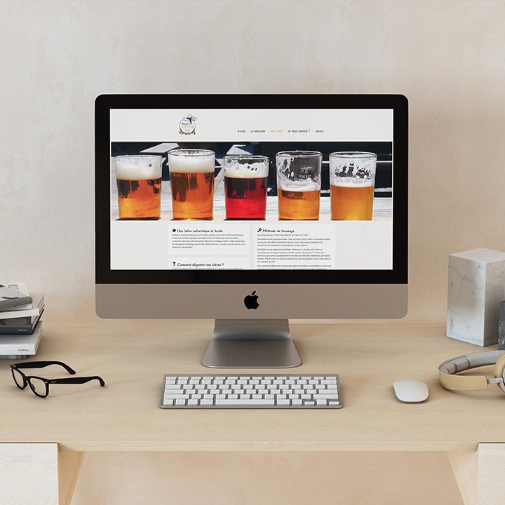 Page d'accueil du site de la Brasserie Kerpiton.