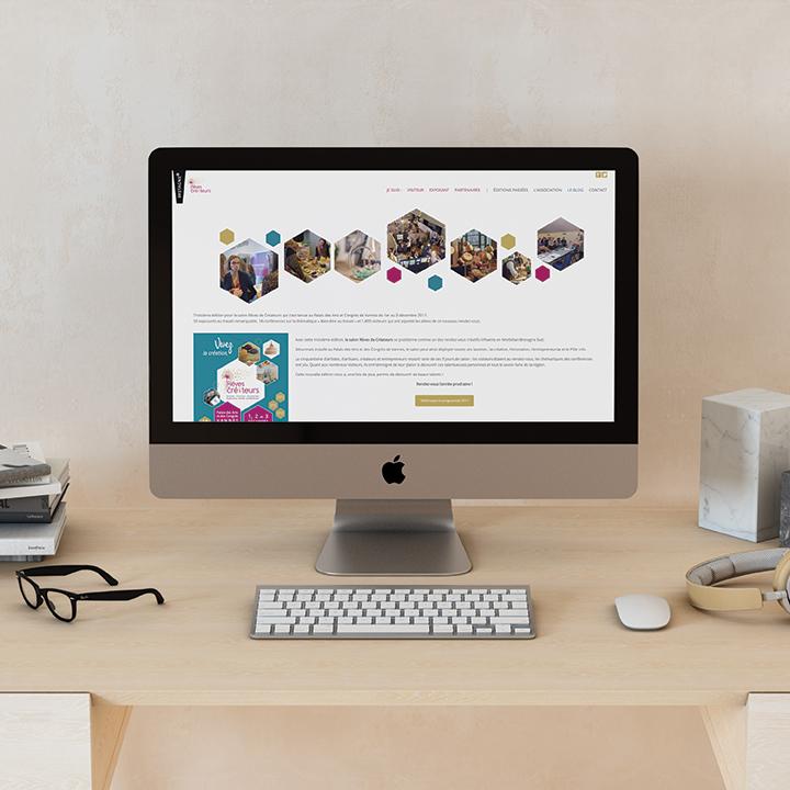 Page d'accueil du site de l'association Rêves de Créateurs.