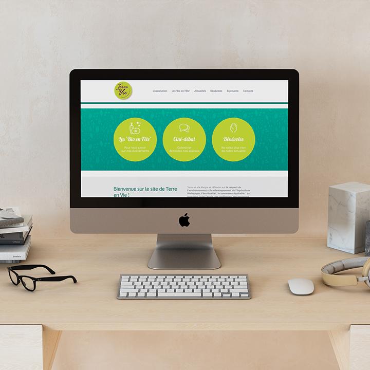 Page d'accueil du site de l'association Terre en Vie.